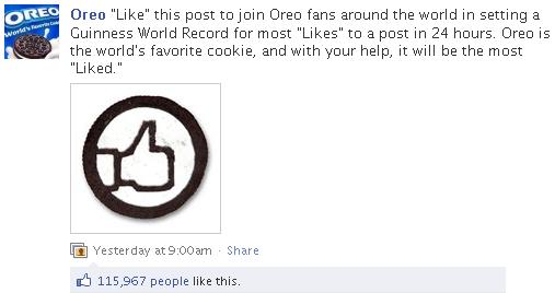 Oreo World Record Likes