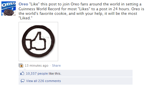 Oreo Guinness World Record Likes
