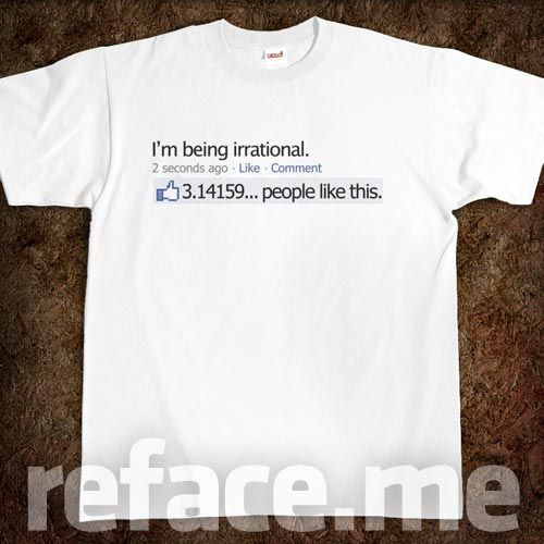 Pi Day Facebook Status Update T-Shirt