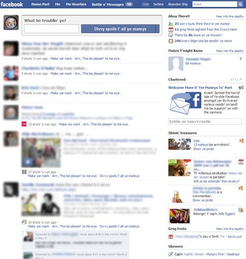 Facebook Pirate version