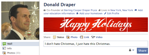 Happy Holidays Facebook Profile Header