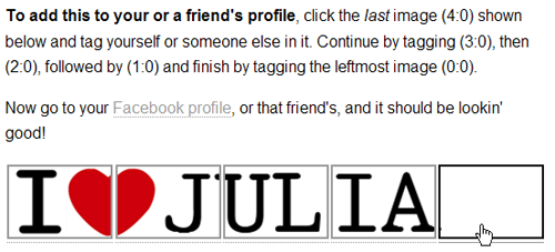 Profile Header I Love Julia Tag