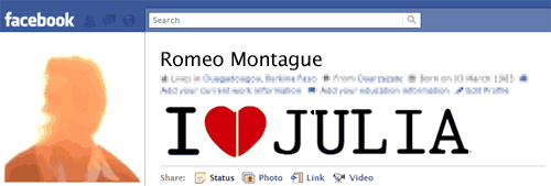 Romeo's Facebook Profile