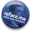 Reface your Facebook - reface.me flair button