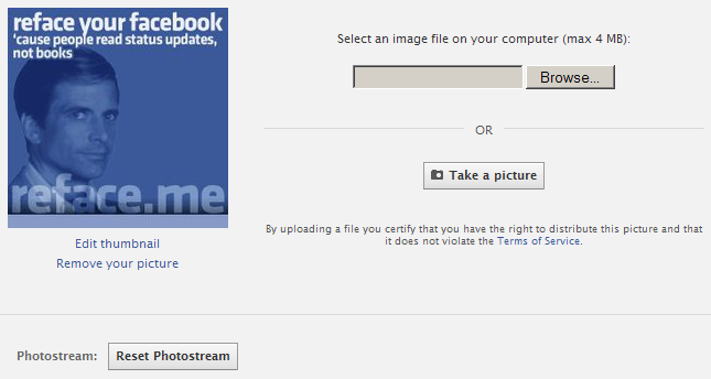 Unhide 5 photos at the top of your Facebook profile