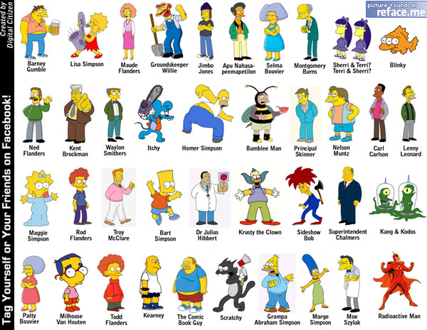 Simpsons Tag Picture for Facebook