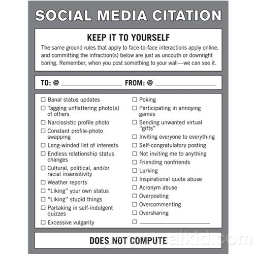 Social Media Citation Notepad
