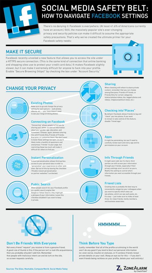 Social Media Safety Belt infographic