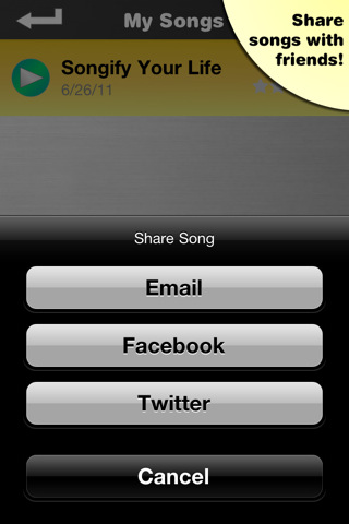 Songify - Share on Facebook