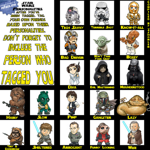 Star Wars Personalities Poster to tag your Facebook friends in