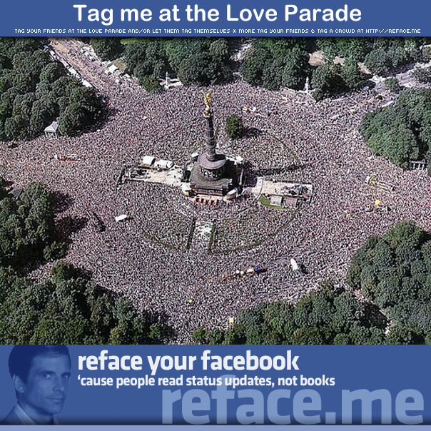 Tag a crowd - Tag your friends at the Love Parade