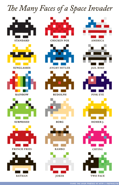 Facebook Tag Picture: Space Invaders