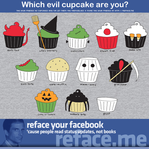 Tag your friends as evil cupcakes