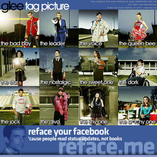 Tag your friends as Glee personalities