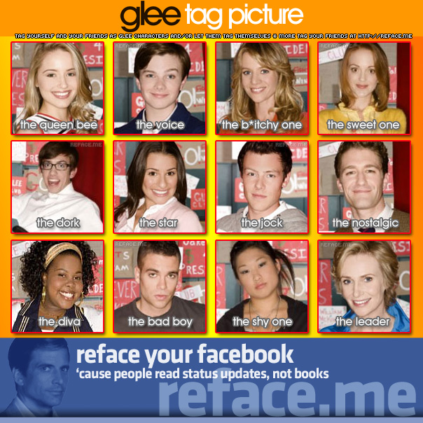Tag your friends as Glee characters