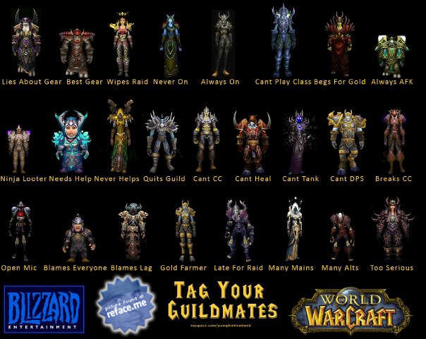 Tag your friends as World of Warcraft Guildmates