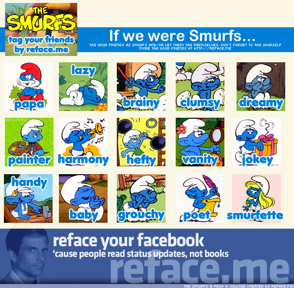 Tag your friends as the Smurf