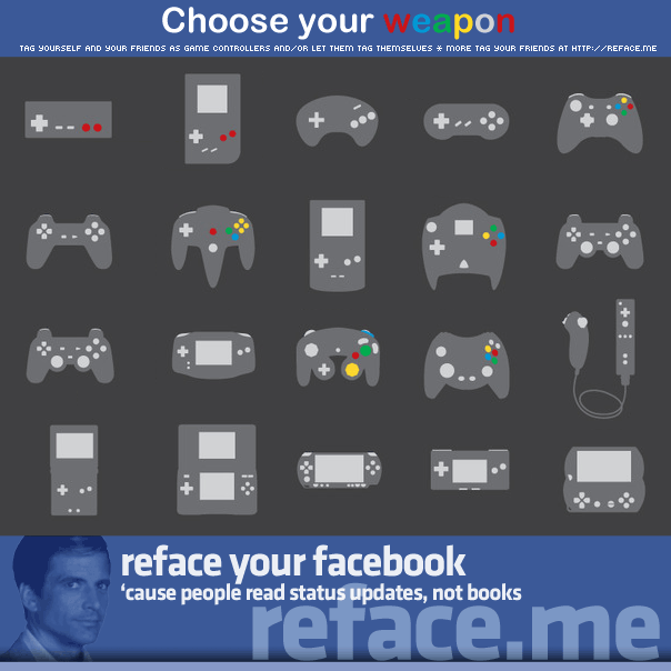 Tag your Facebook friends as video game controllers