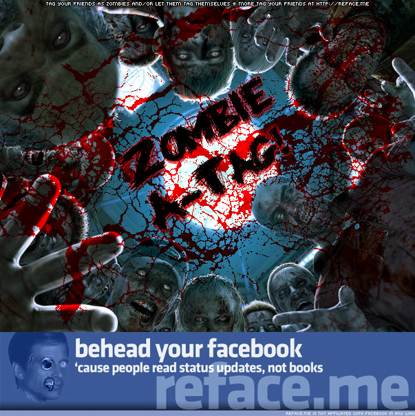 Tag your Facebook friends as zombies