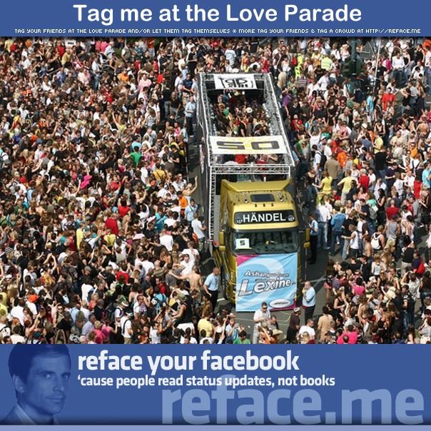 Tag a crowd - Tag your friends at the Love Parade 2