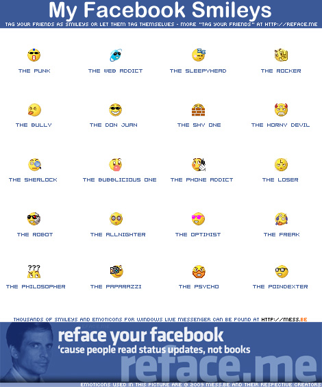 Facebook Smileys Emoticons