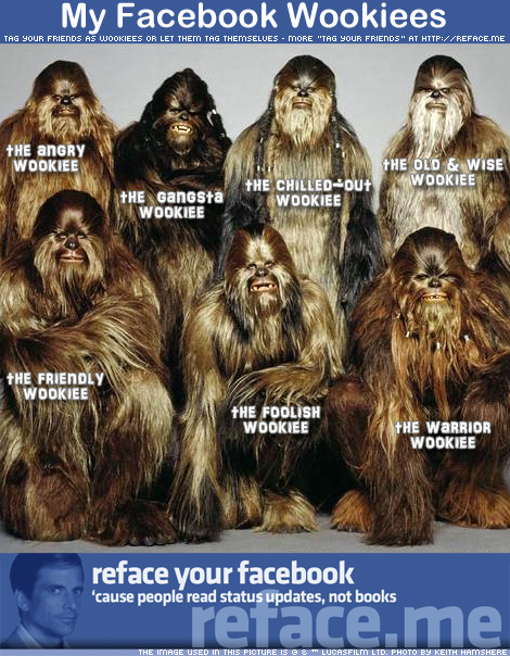 My Facebook Wookiees - Tag your friends as Star Wars Wookies