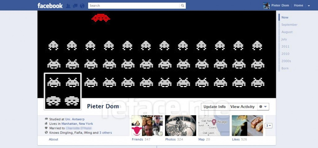 Facebook Timeline hack: Space Invaders
