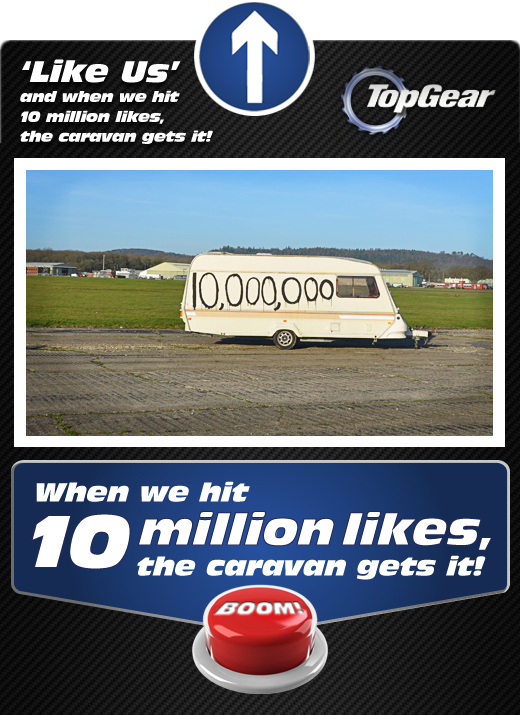 Top Gear Caravan - 10 million Facebook Likes