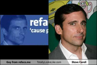 Guy from reface.me totally looks like Steve Carell