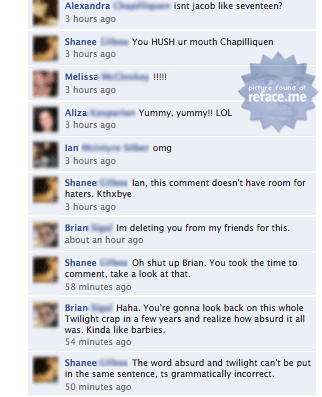 Facebook Twilight Fail