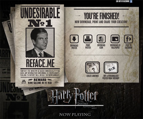 Harry Potter Undesirable N° 1 Poster