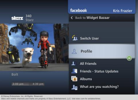 Verizon Fios TV Facebook Widget