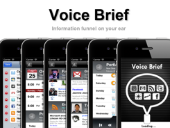 Voice Brief iPhone App Reads Your Facebook Feed Out Loud