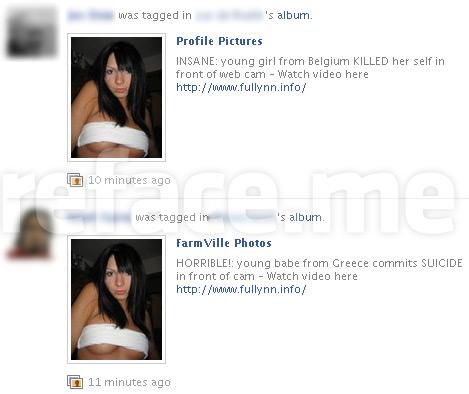 Web Cam Suicide Facebook Hoax