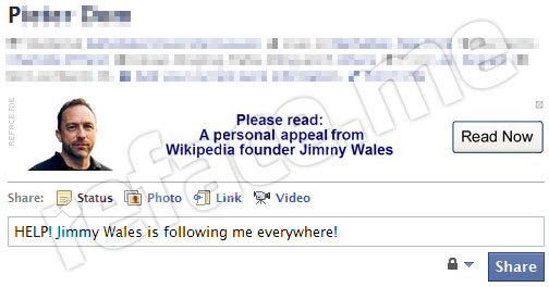 Wikipedia Facebook Profile Prank